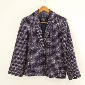 Jones New York wool blend one-button Blazer sz 10